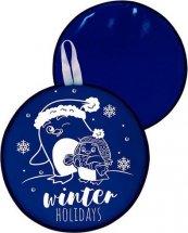 Ледянка Лидер Зимние каникулы круглая 46,5 см, темно-синий