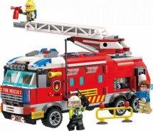 Конструктор Qman Пожарная машина 366 деталей