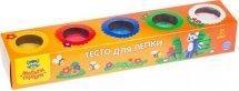 Тесто для лепки Мульти-пульти Енот на пасеке 5 цветов по 90 г