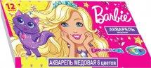 Акварель Центрум Barbie медовая 12 цветов