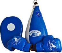Детский боксерский набор Leosport №7, груша мешок 45х20 см, детские перчатки, лапа