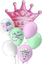Набор-букет шаров с гелием Новорождённые Little Princess 7 шаров