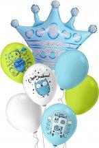 Набор-букет шаров с гелием Новорождённые Little Prince 7 шаров