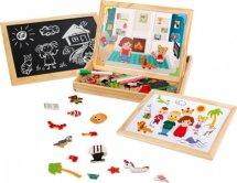 Доска для рисования Бизи-чемоданчик Дружная семья с игровыми фонами