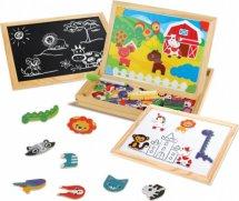 Доска для рисования Бизи-чемоданчик Животные с игровыми фонами