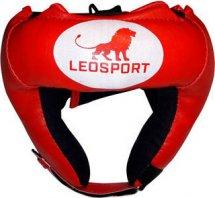 Шлем боксерский набивной Leosport детский, красный