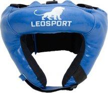 Шлем боксерский набивной Leosport взрослый, синий