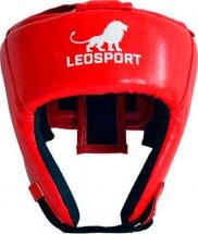 Шлем боксерский литой Leosport подростковый М, красный