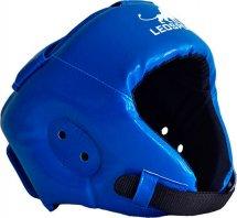 Шлем боксерский литой Leosport взрослый L, синий