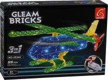 Конструктор Ausini. Gleam Bricks Вертолет 3в1 55 деталей с подсветкой