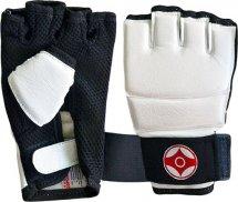 Перчатки для каратэ Киокуcинкай Leosport подростковые M экокожа, белый