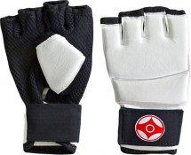 Перчатки для каратэ Киокуcинкай Leosport детские XS натуральная кожа, белый