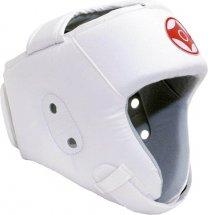 Шлем для каратэ открытый Leosport детский XS экокожа, белый