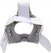 Шлем для каратэ с защитой верха головы Leosport подростковый M экокожа, белый