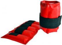 Утяжелители на руки и ноги Leosport пара 1,2 кг XL экокожа, красный