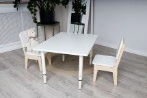 Набор растущей мебели Стол+стул, белый