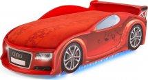 Кровать-машина UNO Ауди-А4 с полным набором опций, красный