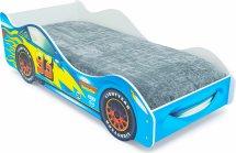 Кровать-машина Тачка синяя с подъемным механизмом