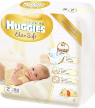 Подгузники Huggies Elite Soft 2 (4-7 кг) 88 шт