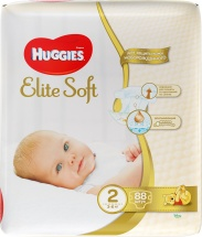 Подгузники Huggies Elite Soft 2 (3-6 кг) 88 шт