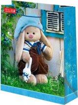 Пакет подарочный Зайка Ми 26х32 см, голубой