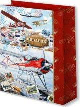 Пакет подарочный Мужской Самолеты 33х45 см