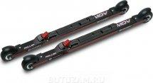 Комплект лыжероллеров Shamov 02-1, колесо: каучук 70 мм, для конькового хода, с креплениями Shamov N02 системы SNS