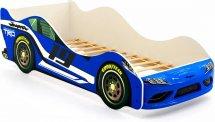 Кровать-машина Супра, синий (уценка)