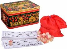 Русское лото Ладья-С в металлической коробке с картонными фишками