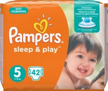 Подгузники Pampers Sleep&Play 5 (11-18 кг) 42 шт
