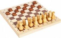 Набор 2в1 Ладья-С шахматы деревянные и шашки деревянные