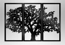 Настенное панно триптих Дерево черный 1060х750х3 мм