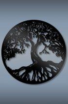 Настенное панно Дерево жизни черный 470х470х3 мм