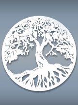 Настенное панно Дерево жизни белый 470х470х3 мм