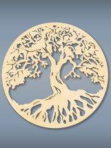 Настенное панно Дерево жизни дерево (без покрытия) 470х470х3 мм