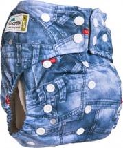 Многоразовый подгузник GlorYes Premium (3-18 кг) джинс