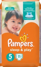 Подгузники Pampers Sleep&Play 5 (11-18 кг) 11 шт
