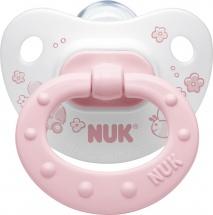 Пустышка Nuk Baby Rose силикон ортодонтическая с 6 до 18 мес