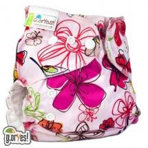 Многоразовый подгузник GlorYes Classic Plus (3-18 кг) цветы