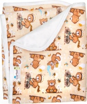 Пеленка GlorYes непромокаемая 80х68 см, медвежонок