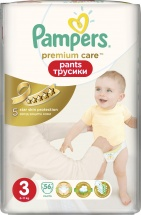 Трусики Pampers Premium Care 3 (6-11 кг) 56 шт