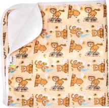 Пеленка GlorYes впитывающая 80х68 см, медвежонок