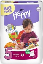 Подгузники Bella Happy Junior 5 (12-25 кг) 58 шт