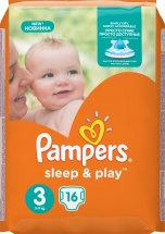 Подгузники Pampers Sleep&Play 3 (4-9 кг) 16 шт