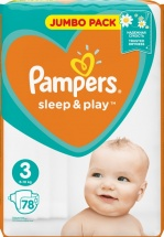 Подгузники Pampers Sleep&Play 3 (6-10 кг) 78 шт