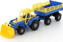 Трактор Полесье Мастер с прицепом и ковшом №2, синий