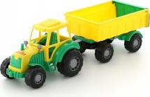Трактор Полесье Мастер с прицепом №1, зеленый