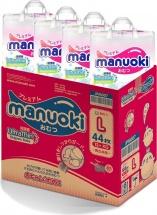 Набор подгузников Manuoki L (12+ кг) 4 пачки по 44 шт
