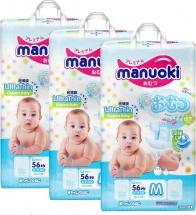 Набор подгузников Manuoki M (6-11 кг) 3 пачки по 56 шт