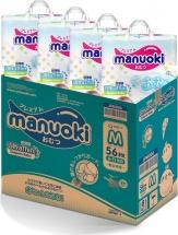Набор подгузников Manuoki M (6-11 кг) 4 пачки по 56 шт